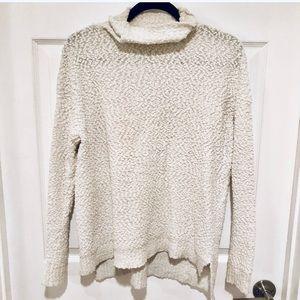 Joseph A. Popcorn Knit Sweater in Cream